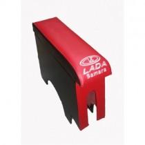 Probass Tuning Подлокотник Ваз 2108 - 2109 - 21099 с вышивкой длинный красный