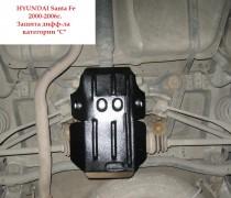 "Авто-Полигон HYUNDAI Santa Fe 2,0; 2,4; 2,0D 2000-2006г. Защита дифф-ла Защита дифф-ла ""C"""