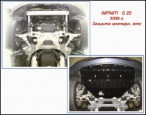 """Авто-Полигон INFINITY G25 2.5 АКПП с 2009г. Защита моторн. отс. категории """"A"""""""