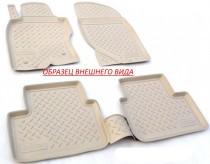 Unidec Коврики резиновые Nissan Tiida 2010-2014 3D БЕЖЕВЫЕ
