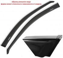 Cobra Tuning Profi Дефлекторы окон Hyundai Starex 1998-2007/H-1 1998-2007 с хромированным молдингом