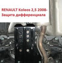"""Авто-Полигон RENAULT Koleos 2,5л 2008-. Защита дифф-ла категории """"B"""""""