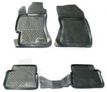 L.Locker Коврики в салон Subaru Impreza hb 2007- полиуретановые