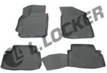 L.Locker Коврики в салон Chevrolet Lacetti 2004- серые 3D полиуретановые