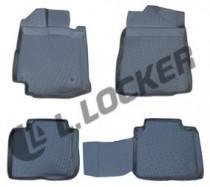 L.Locker Коврики в салон Toyota Venza 3D 2008-  полиуретановые