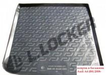 L.Locker Коврики в багажник Audi A4 Avant (08-) - пластик