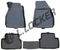L.Locker Коврики в салон Chevrolet Malibu sd 2011- серые 3D полиуретановые
