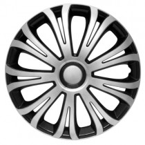 4 RACING Avera Silver&Black КОЛПАКИ ДЛЯ КОЛЕС R15 (Комплект 4 шт.)