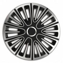 4 RACING Motion Silver&Black КОЛПАКИ ДЛЯ КОЛЕС R14 (Комплект 4 шт.)
