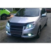 Vip tuning Дефлекторы капота Chevrolet Aveo с 2008-2011 г.в.( х/б)