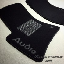Vip tuning Ворсовые коврики в салон Mitsubishi L200 2007г> МКП 4дв. (увеличенный размер)