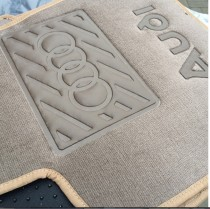 Vip tuning Ворсовые коврики в салон Audi Q-7 2015г> 1+2-й ряд