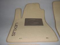 Ворсовые коврики в салон Lexus RX 2014г (задний цельный)