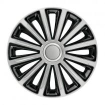 Elegant Trend Silver&Black КОЛПАКИ ДЛЯ КОЛЕС R14 (Комплект 4 шт.)