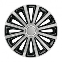 Elegant Trend Silver&Black КОЛПАКИ ДЛЯ КОЛЕС R15 (Комплект 4 шт.)