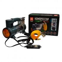 ДК Компрессор, 12V, 7Атм, 30л/мин, фонарь, прикуриватель, кабель 3м, шланг 1м
