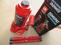 ДК Домкрат бутылочный, 8т, красный H=200/385