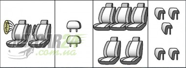 Favorite Авточехлы на сиденья OPEL Sintra 1996-1999 (7 мест)