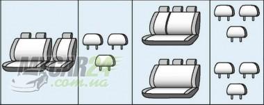 Favorite Авточехлы на сиденья OPEL Vivaro (9 мест) (минивен) 2001-2014
