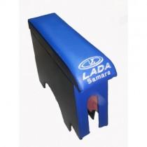 Probass Tuning Подлокотник Ваз 2108 - 2109 - 21099 с вышивкой длинный синий