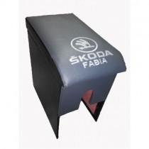 Probass Tuning Подлокотник Skoda Fabia (1999 - 2014) с вышивкой серый