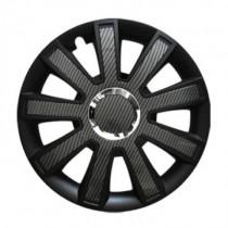 Leoplast Flash Carbon black Колпаки для колес R15 (Комплект 4 шт.)