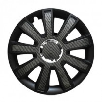 Leoplast Flash Carbon black КОЛПАКИ ДЛЯ КОЛЕС R16 (Комплект 4 шт.)