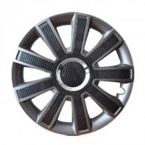 Leoplast Flash Carbon grafit Колпаки для колес R15 (Комплект 4 шт.)
