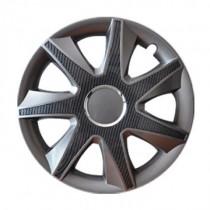 Leoplast Run Carbon grafit Колпаки для колес R15 (Комплект 4 шт.)