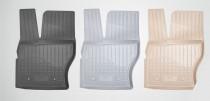 Коврики резиновые VW Jetta 2014- 3D Серые Unidec