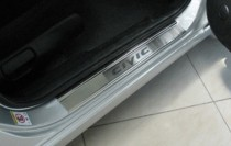 N-nikо Накладки на пороги Honda Civic VIII 4D 2006-2011-
