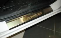 N-nikо Накладки на пороги Mitsubishi Lancer X 2007-