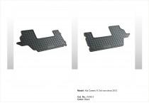 Резиновые коврики в салон Kia Carens IV – 3 rd 2013- EL TORO