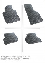 Резиновые ковры в салон авто Volkswagen Golf VI 2008-
