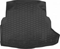 """Резиновые коврики в багажник Mercedes C-Class W 205 (седан) (без """"уха"""")  AvtoGumm"""