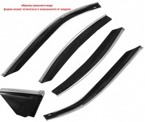 Cobra Tuning Profi Дефлекторы окон Hyundai Santa Fe III 2012 с хромированным молдингом