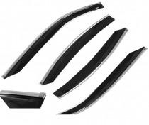 Cobra Tuning Profi Дефлекторы окон Mercedes Benz B-klasse (W246) 2011 с хромированным молдингом