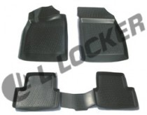 L.Locker Коврики в салон Opel Astra J hb 3D 2009-  полиуретановые