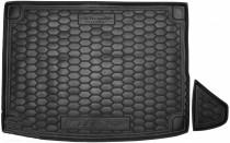 Резиновые коврики в багажник Kia Niro (2018>) (с органайзер.)  AvtoGumm