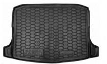 Резиновые коврики в багажник Skoda Karoq (2018>)с докаткой