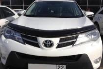 SIM Дефлектор капота  Toyota RAV4 (2013- / 2015-) (с подгибом)