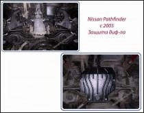 "Авто-Полигон NISSAN Pathfinder 2,5 dCi АКПП 2005-. Защита диф-ла категории ""St"""