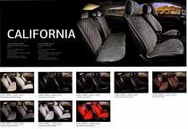 Fashion Накидка для сидений Калифорния коричневый (пара)