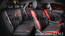 Fashion Чехол - накидка для сидений Стинг черный (комплект)