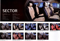 Fashion Чехол - накидка для сидений Сектор черный (комплект)