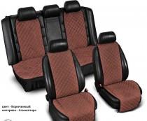 Накидка на сиденье Адмирал (комплект) коричневый