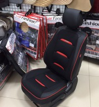 Накидка для сидений Business черный+красный (пара)
