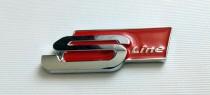 Logo Надпись на крыло Audi S line new red / S line new black