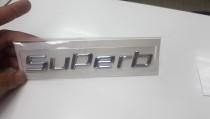 Logo Надпись Superb на багажник  Skoda