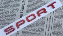 Logo Надпись Sport черный/серый/красный на багажник Land Rover